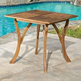 Patio Dining Table,Outdoor Dining Table,Hermosa Pool Dining Table, Acacia Wood Square Dining Table