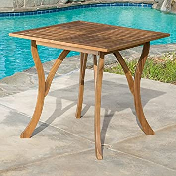 Amazoncom Patio Dining Table Outdoor Dining Table Hermosa Pool - Square wood outdoor dining table