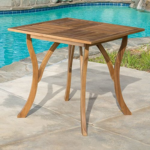 Knight Pool Table (Patio Dining Table,Outdoor Dining Table,Hermosa Pool Dining Table, Acacia Wood Square Dining Table)
