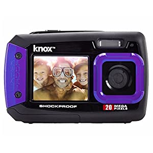 Knox Dual-Screen 20MP Rugged Underwater Digital Camera with Video (Purple)