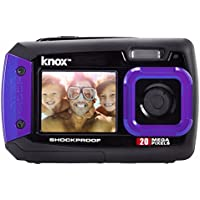 Knox Gear Dual-Screen 20MP Rugged Underwater Digital Camera with Video (Purple)