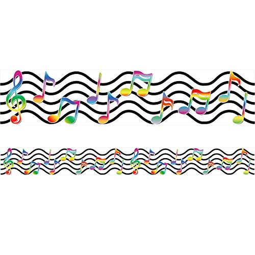 Musical Notes Bulletin Board Border Straight Trimmer for Classroom Decoration 36ft One Roll