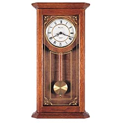 Bulova C3375 Cirrus Wall Clock, 22, Oak