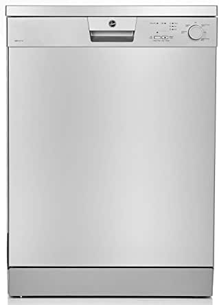 Hoover 5 programs 12 Place Settings free standing Dishwasher, Made in Turkey, Silver - HDW1217-S, 1 Year Warranty