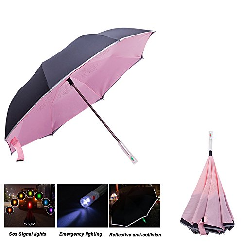 029bbce64b9e IdTravel Double Layer Inverted Umbrella with LED Handle, - Import It All