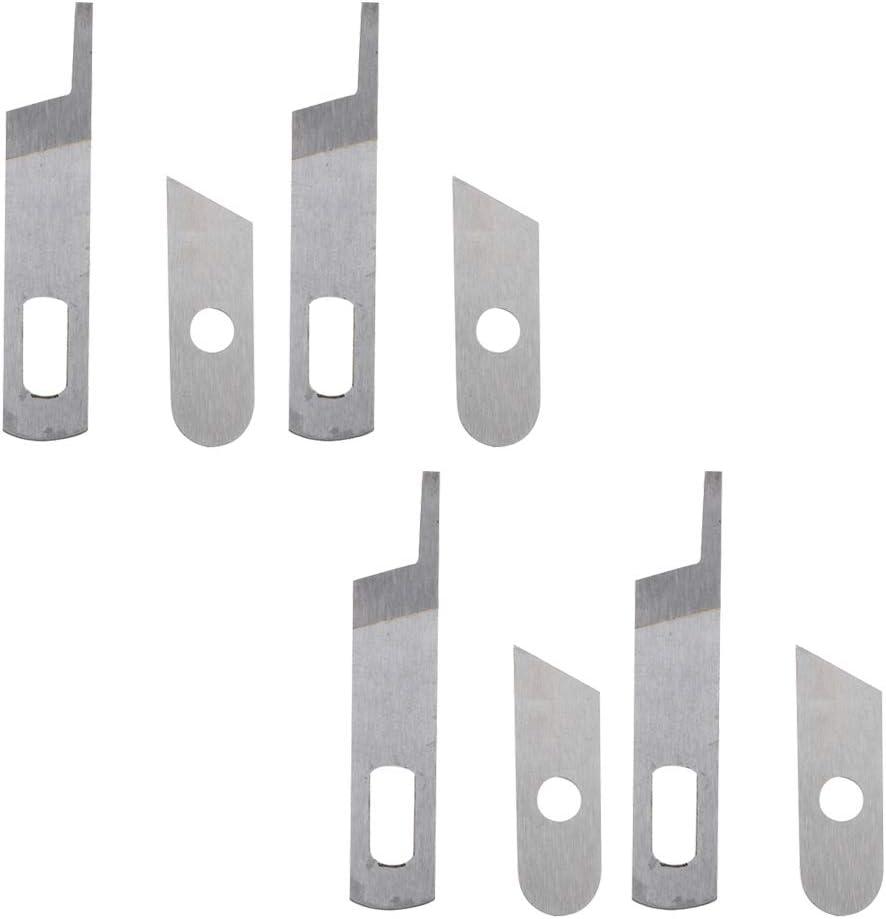 freneci 8 Piezas De Cuchillas De Máquina De Coser De Punto De Cadeneta Para SINGER 14SH654 14U544 14U554