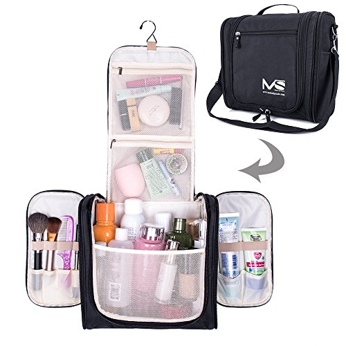 (Large Hanging Travel Toiletry Bag - MelodySusie Heavy Duty Waterproof Makeup Organizer Bag Shaving Kit Toiletry Bag for Travel Accessories, Shampoo, Cosmetic, Personal Items)
