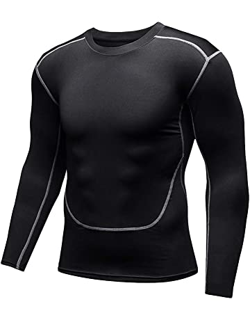 LIOOBO Ropa térmica de Invierno para Hombre Compresión Camisetas de Manga  Larga Talla L Negro 1dcfe54e5d119