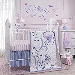 Lambs & Ivy Mackenzie Girl's 6 Piece Crib Bedding Set