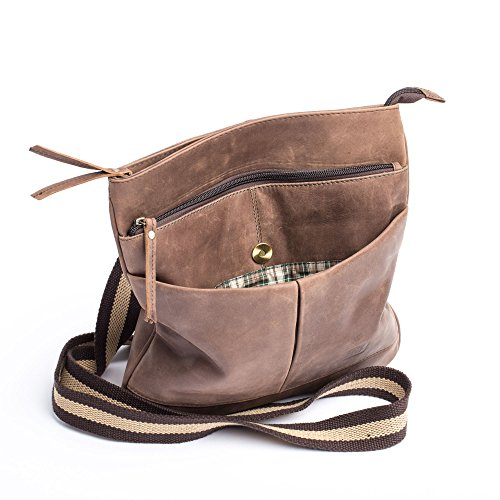 For Shoulder Bag Brown Leather Man Unique Brown Dudu Taille 5qOxtwSWE