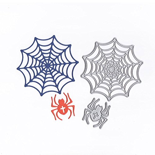 Cutting Dies,Pollyhb Metal Cutting Dies Stencils for Scrapbooking Embossing DIY Crafts,Girl Balloon Halloween Spider Butterfly,Cut Die for Card Making Scrapbooking (H:89x90mm) -