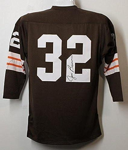 Jim Brown Jersey - Autgoraphed Mitchell   Ness Size 44 21334 - JSA ... 5bb196f14