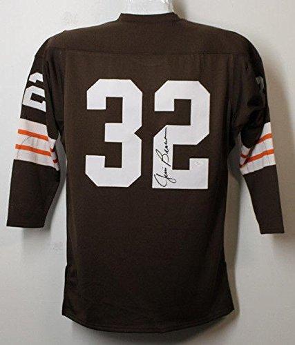 - Jim Brown Jersey - Autgoraphed Mitchell & Ness Size 44 21334 - JSA Certified - Autographed NFL Jerseys