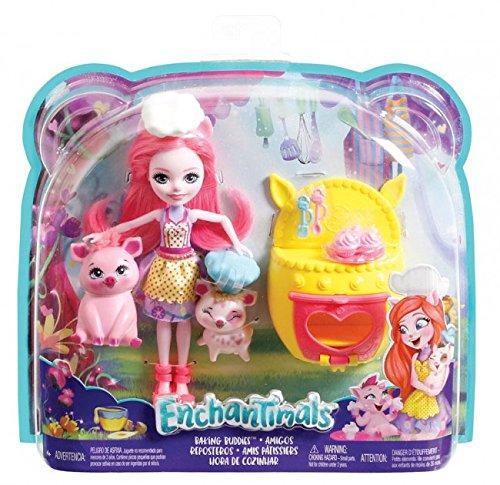 Enchantimals Baking Buddies Fashion Dolls (Positively Pigs)