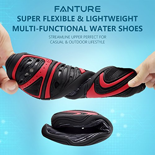 Quick Beach 18 Womens Sports Swim Holes For Dry With Aqua Walking Red Shoes Drainage Rose Drainage Men Wading Fanture Water Yoga wT4IqA