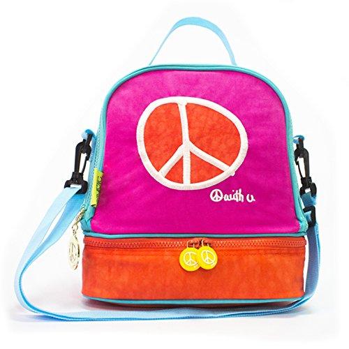 - Biglove Peace Lunch Bag, Magenta