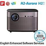 Home Cinema Projector, H2-Aurora Auto Focus Native 1080p HD Projector Android 3D Smart Projector TV Built-in Harman/Kardon Customized HiFi Stereo with LiveTV.Direct English Enhanced Software Services