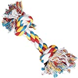 Zanies Cotton Knotted Rope Bone Dog Toy, 16-Inch, My Pet Supplies
