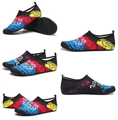 Chaussure Léger Sport Bleu Élastique Noir Jixin4you d'eau Extérieurs Respirant Chausson 1vgTaawB5q