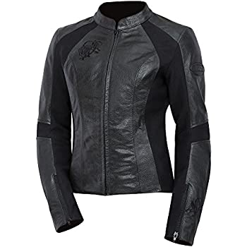Hot Sale Xelement Xs2002 Womens Black Armored Leather Jacket Large