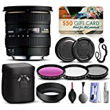 Sigma 10-20mm F4-5.6 EX DC HSM Lens for Canon (201101) includes 3 Piece Filter Set (UV-CPL-FLD) + Deluxe Cleaning Kit + Air Dust Blower + Cap Keeper + $50 Prints Gift Card