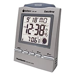 Datexx Radio Control Alarm Clock with Month, Day and Temperature