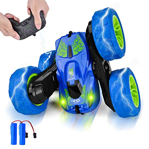 Remote Control Cars 4WD Rotating RC Car: 2.4GHz Flips Stunt Car Remote Control Toy Cars Boys for Toys Gifts for Kids 5-8…