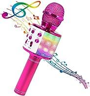 BlueFire 4 in 1 Karaoke Bluetooth Handheld Wireless Microphone Portable Speaker Machine Home KTV Player with R