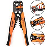 """HORUSDY Wire Stripping Tool, Self-adjusting 8"""" Automatic Wire Stripper/Cutting Pliers Tool for Wire Stripping, Cutting, Crimping 10-24 AWG (0.2~6.0mm²)"""