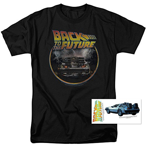 Back to the Future Delorean T Shirt & Exclusive Stickers (XX-Large)