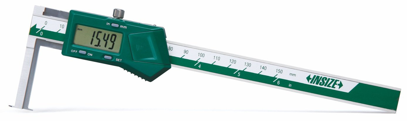 Industrial Electronic Digital Caliper 6 inch Full Stainless Steel Metal Vernier Caliper Measuring Tool with large Case LCD Screen and Auto Off Function IP54 Waterproof By authoritative measurement Dechengbao IP54 Digital Caliper