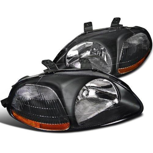 Spec-D Tuning 2LH-CV96JM-RS Honda Civic Dx Ex Lx Si 2/3/4Dr Jdm Headlights Black