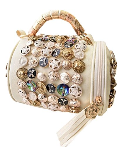 Women Hot Handbag PU Leather bags(white) - 3