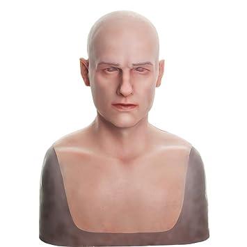 8a801df189590b Ajusen Silicone Masque réaliste Tête Pleine Mascarade 4ème génération pour  travesti Cosplayeur Halloween Fête costumée