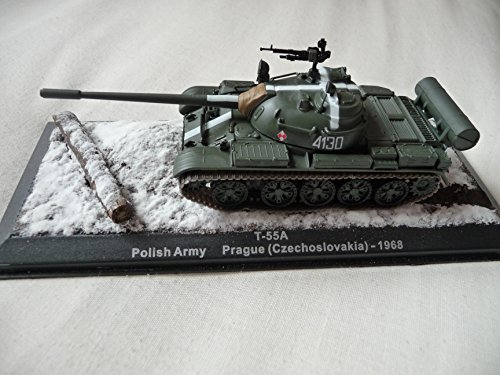 Laminated Poster Model of a Polish T-55A. The White Markings on The Turret, Barrel and The Glacis Plate are consisten Vivid Imagery Poster Print 24 x -