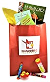 Hand Held Hummingbird Feeder Gift Bag by Nature Bird - Family Kit for Outdoor Fun; incl hummingbird nectar mix, Zoobooks mag, window-to-handheld feeder for kids, 3-port palm feeder, easy instructions