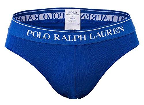 POLO RALPH LAUREN Herren Slip 3er Pack, Stretch Cotton - Marine/Blau/Rot