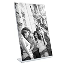 MCS Bent Acrylic Picture Frame 5 by 7-Inch, Vertical by MCS