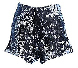 Black/Silver Sequins Short