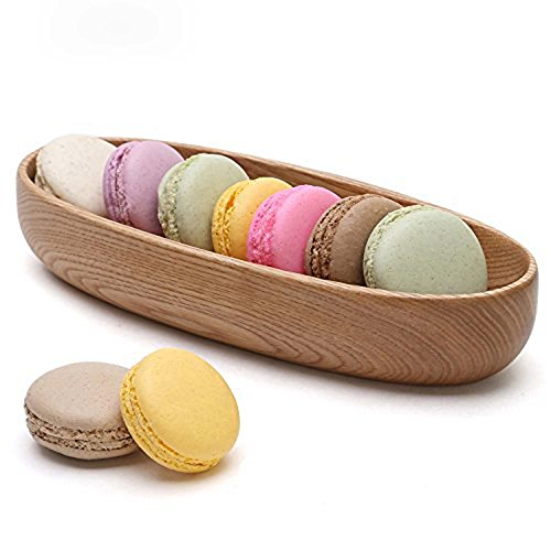 - GOHIDE Oval Boat Shaped Wooden Serving Trays,Wood Plate for Party,Wooden Dish,Hotel and Home Dinner Plate Dish, Tableware Tray Cake Snacks Fruit Plate with size 21.5 x 9 x 4cm XCX