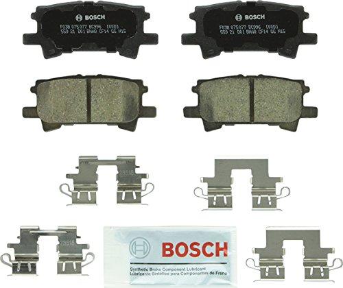 (Bosch BC996 QuietCast Premium Ceramic Disc Brake Pad Set For: Lexus RX330, RX350, RX400h; Toyota Highlander, Rear)