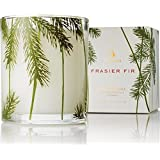 Thymes Frasier Fir Poured White Candle - Pine Needle Glass - 6.5oz