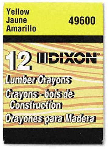Dixon Lumber Crayon, Permanent, Yellow, 12-Count (49600) by Dixon Ticonderoga Office Product by Home & Tools (Image #1)