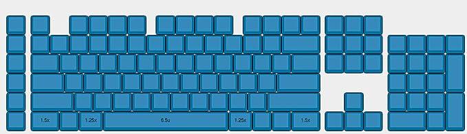 YMDK XDA Teclado completo en blanco azul para teclado mecánico MX Steelseries Ergodox Filco Cosair Noppoo Planck IKBC Vortex Core Azul Corsair