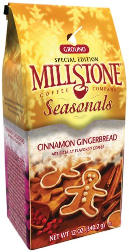 Millstone Cinnamon Gingerbread Ground Coffee, 12 Ounce Packages (Pack of 2)