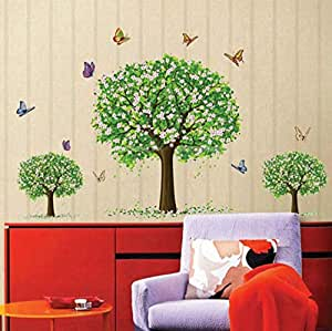 3D Wallpaper Three Tree Butterflies Kids Room Decorating Wall Stickers Living Room Bedroom TV Background Room Murals-xsq
