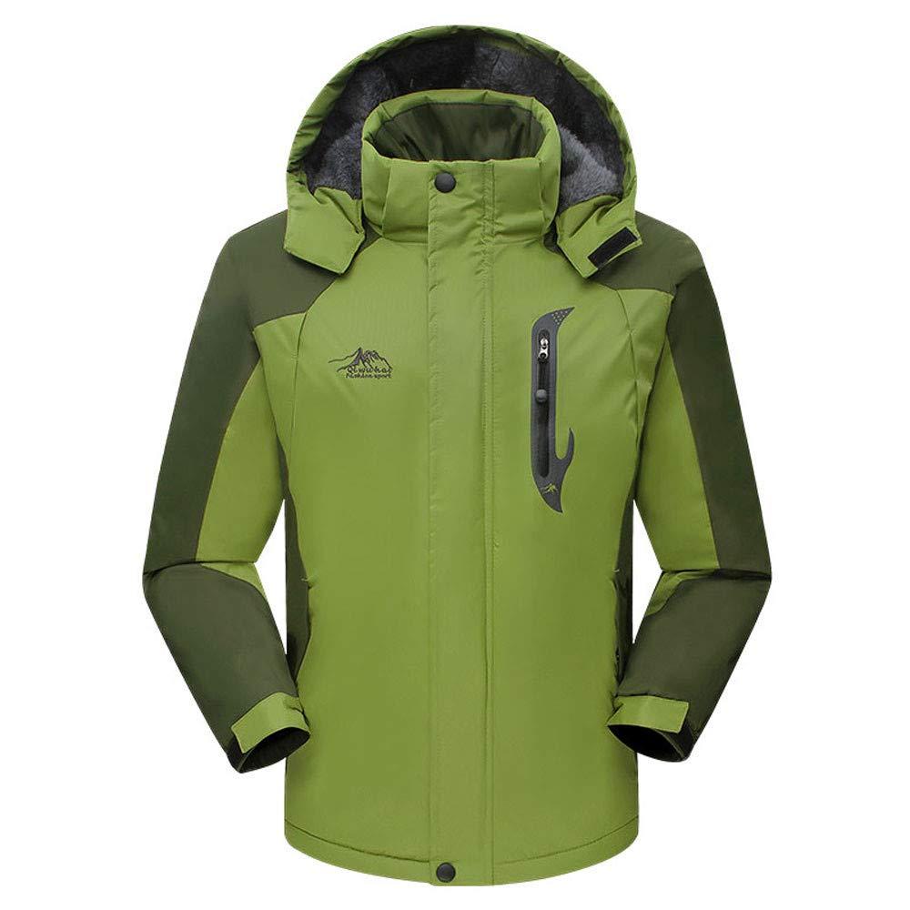Mint Green XXXXXLarge Ennglun Mens Trench Coat,Men's Winter Long Padded Velvet Thickened Outdoor Sports Coat,Black Windbreaker