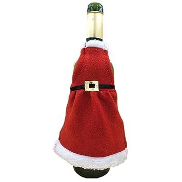 Christmas decorazione per Merry vino di bottiglia da rosso tavolo UqxqZd4F