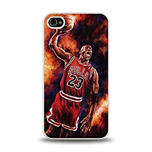"""iPhone 4 4S case protective back cover with NBA All-time MVP MJ Micheal Jordan """"Air Jordan"""" 7"""