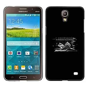 EJOY---Cubierta de la caja de protección la piel dura para el / Samsung Galaxy Mega 2 / --En la era de la información La ignorancia es una opción